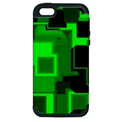 Green Cyber Glow Pattern Apple iPhone 5 Hardshell Case (PC+Silicone)