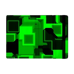 Green Cyber Glow Pattern Apple iPad Mini Flip Case
