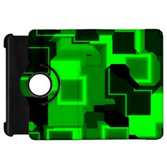 Green Cyber Glow Pattern Kindle Fire HD 7