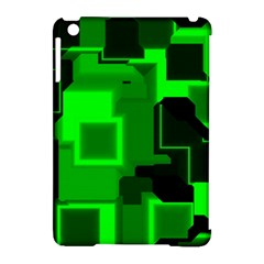 Green Cyber Glow Pattern Apple iPad Mini Hardshell Case (Compatible with Smart Cover)