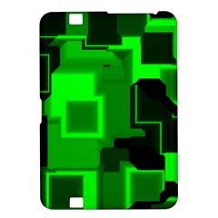 Green Cyber Glow Pattern Kindle Fire HD 8.9