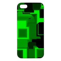 Green Cyber Glow Pattern Apple iPhone 5 Premium Hardshell Case