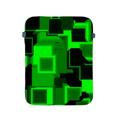 Green Cyber Glow Pattern Apple Ipad 2/3/4 Protective Soft Cases