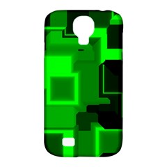 Green Cyber Glow Pattern Samsung Galaxy S4 Classic Hardshell Case (PC+Silicone)