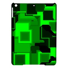 Green Cyber Glow Pattern iPad Air Hardshell Cases