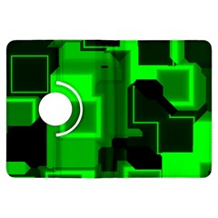 Green Cyber Glow Pattern Kindle Fire HDX Flip 360 Case