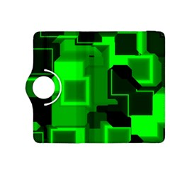 Green Cyber Glow Pattern Kindle Fire HDX 8.9  Flip 360 Case