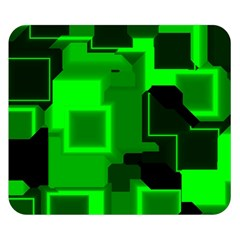 Green Cyber Glow Pattern Double Sided Flano Blanket (Small)