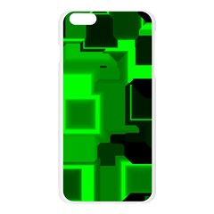 Green Cyber Glow Pattern Apple Seamless iPhone 6 Plus/6S Plus Case (Transparent)