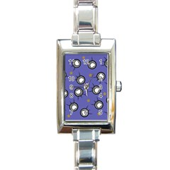 Rockets In The Blue Sky Surrounded Rectangle Italian Charm Watch