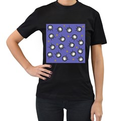 Rockets In The Blue Sky Surrounded Women s T Shirt (black) (two Sided)