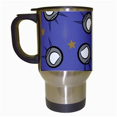 Rockets In The Blue Sky Surrounded Travel Mugs (white)