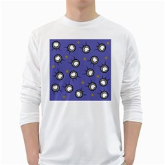Rockets In The Blue Sky Surrounded White Long Sleeve T Shirts