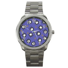 Rockets In The Blue Sky Surrounded Sport Metal Watch