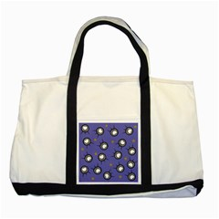 Rockets In The Blue Sky Surrounded Two Tone Tote Bag