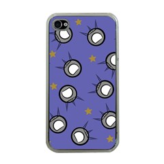 Rockets In The Blue Sky Surrounded Apple iPhone 4 Case (Clear)