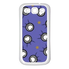 Rockets In The Blue Sky Surrounded Samsung Galaxy S3 Back Case (White)