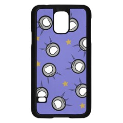 Rockets In The Blue Sky Surrounded Samsung Galaxy S5 Case (Black)