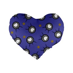 Rockets In The Blue Sky Surrounded Standard 16  Premium Flano Heart Shape Cushions