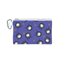 Rockets In The Blue Sky Surrounded Canvas Cosmetic Bag (S)