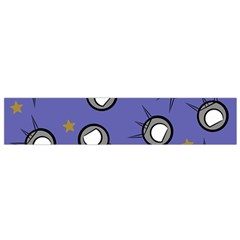 Rockets In The Blue Sky Surrounded Flano Scarf (Small)