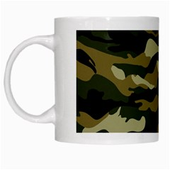 Military Vector Pattern Texture White Mugs