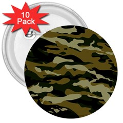 Military Vector Pattern Texture 3  Buttons (10 Pack)