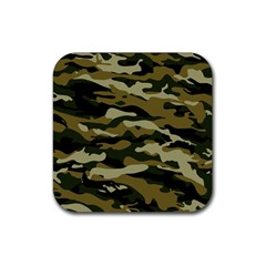 Military Vector Pattern Texture Rubber Coaster (Square)