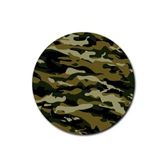 Military Vector Pattern Texture Rubber Round Coaster (4 Pack)