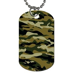 Military Vector Pattern Texture Dog Tag (One Side)