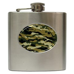 Military Vector Pattern Texture Hip Flask (6 Oz)