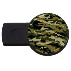 Military Vector Pattern Texture Usb Flash Drive Round (2 Gb)