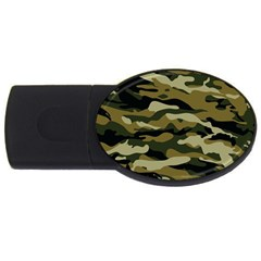 Military Vector Pattern Texture Usb Flash Drive Oval (2 Gb)