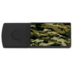 Military Vector Pattern Texture USB Flash Drive Rectangular (2 GB)