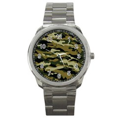 Military Vector Pattern Texture Sport Metal Watch