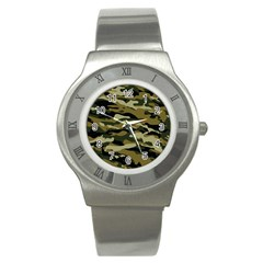 Military Vector Pattern Texture Stainless Steel Watch