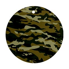 Military Vector Pattern Texture Round Ornament (Two Sides)