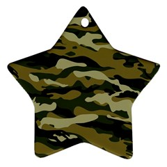 Military Vector Pattern Texture Star Ornament (two Sides)