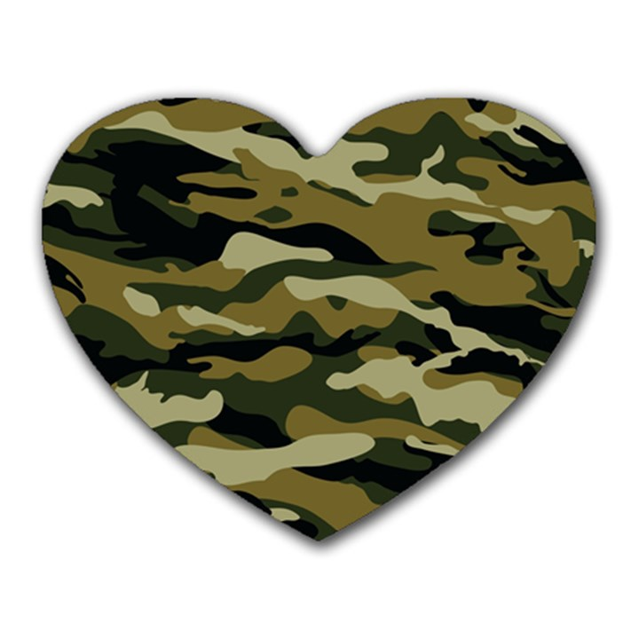 Military Vector Pattern Texture Heart Mousepads