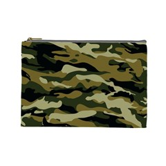 Military Vector Pattern Texture Cosmetic Bag (Large)