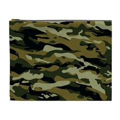 Military Vector Pattern Texture Cosmetic Bag (xl)