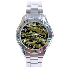 Military Vector Pattern Texture Stainless Steel Analogue Watch