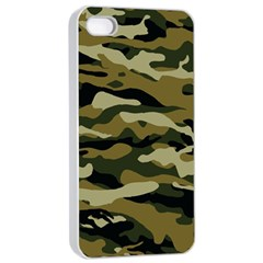 Military Vector Pattern Texture Apple iPhone 4/4s Seamless Case (White)