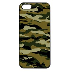 Military Vector Pattern Texture Apple iPhone 5 Seamless Case (Black)