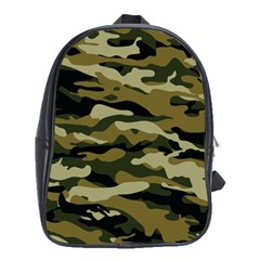 Military Vector Pattern Texture School Bags (XL)
