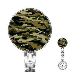 Military Vector Pattern Texture Stainless Steel Nurses Watch