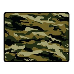 Military Vector Pattern Texture Double Sided Fleece Blanket (Small)