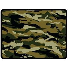 Military Vector Pattern Texture Double Sided Fleece Blanket (Large)