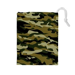 Military Vector Pattern Texture Drawstring Pouches (Large)