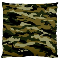 Military Vector Pattern Texture Large Flano Cushion Case (Two Sides)